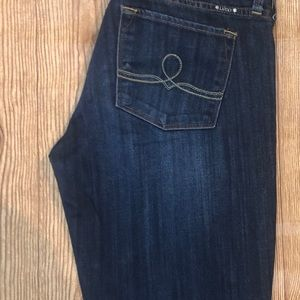 Lucky Brand Jeans - Lucky Brand Blue Jeans 6/28 Long Zip with Button